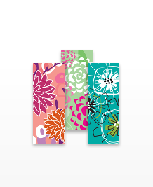 Preview image of MiniCard design 'Flowered Up'