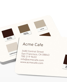 Preview image of Business Card design 'Coffee Colours'