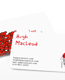 Preview image of Business Card design 'gapingvoid Love'
