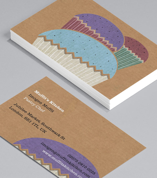 Business Card designs - Hey there, cupcake! (Landscape)