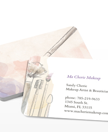 Preview image of Business Card design 'Let's Kiss and Makeup'