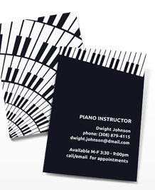Preview image of Business Card design 'Funky Piano'