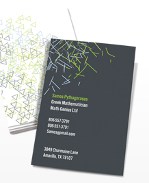 Business Card designs - Abstract Lines Vertical