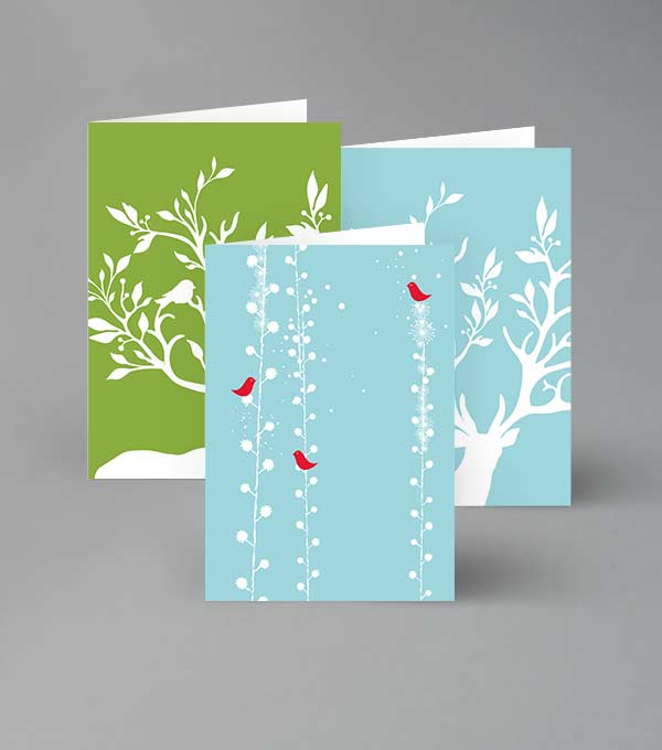 Greeting cards designs moo united states snowflakes and antlers m4hsunfo