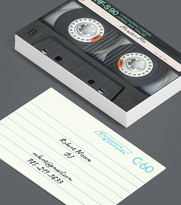 Business Card designs - I made you a mixtape