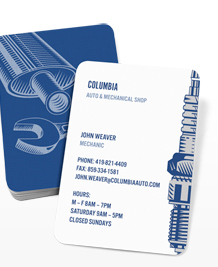 Preview image of Business Card design 'Mechano'