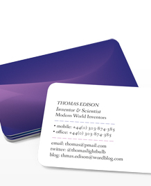 Preview image of Business Card design 'Blue Mood'