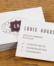 Business Card designs - Louis Marie Augustin