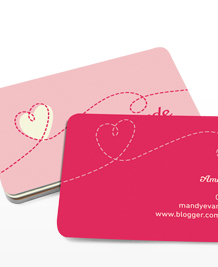 Preview image of Business Card design 'Love Handmade'