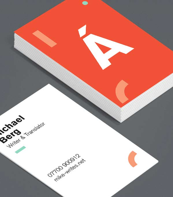 Business Card designs - Happy Alphabet