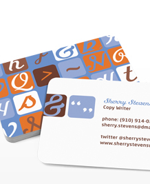Preview image of Business Card design 'Modern Retro'