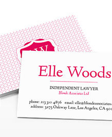 Designs de Cartes de Visite - Elle Woods