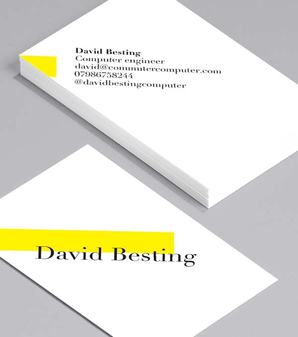 Business Card designs - On A Tilt