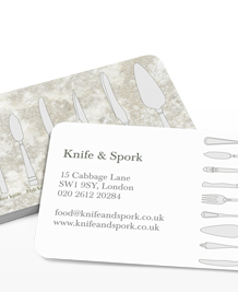 Preview image of Business Card design 'Which fork?'