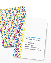 Preview image of Business Card design 'Number Jumble'