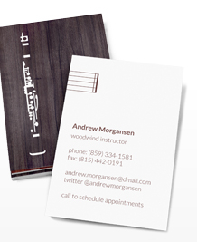 Preview image of Business Card design 'Woodwind Section'