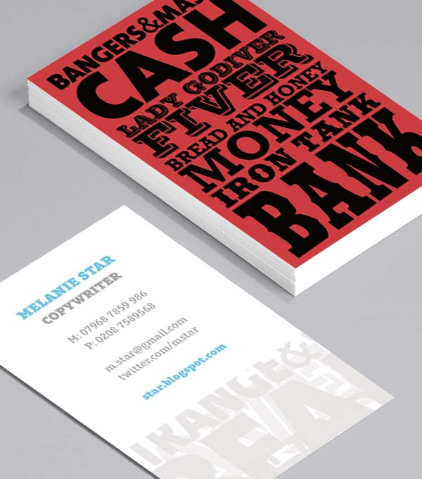 Business Card designs - Cockney Rhyming Slang