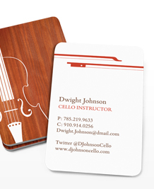 Preview image of Business Card design 'Violin Silhouette'