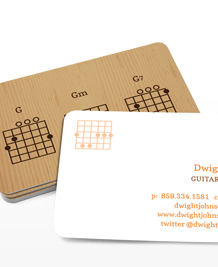 Preview image of Business Card design 'Guitar Chords'