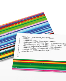 Preview image of Business Card design 'Glitch'