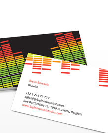 Preview image of Business Card design 'Big in Brussels'