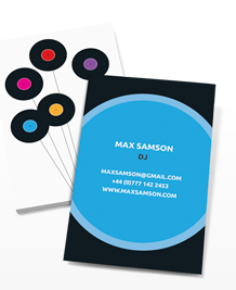 Preview image of Business Card design 'Bunch of Records'