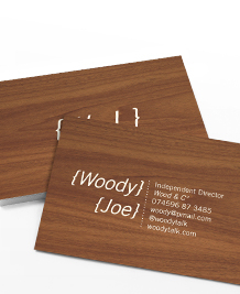 Preview image of Business Card design 'Mahogany'