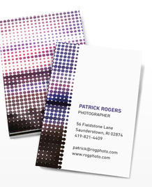 Preview image of Business Card design 'Rasterized Panorama'