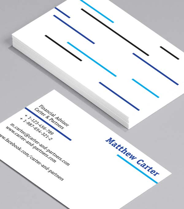 Business Card designs - Blue Lines