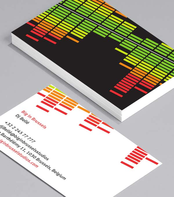 Business Card designs - Big in Brussels
