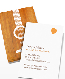 Preview image of Business Card design 'Guitar Silhouettes'