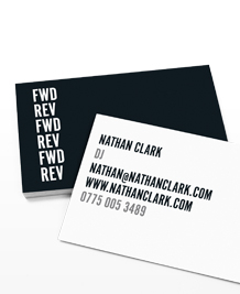 Business Card designs - Back and Forth Text