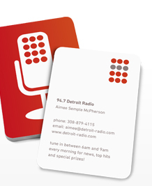 Preview image of Business Card design 'Talk Radio - Red'