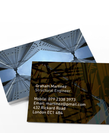 Preview image of Business Card design 'Graphic City Scenes'