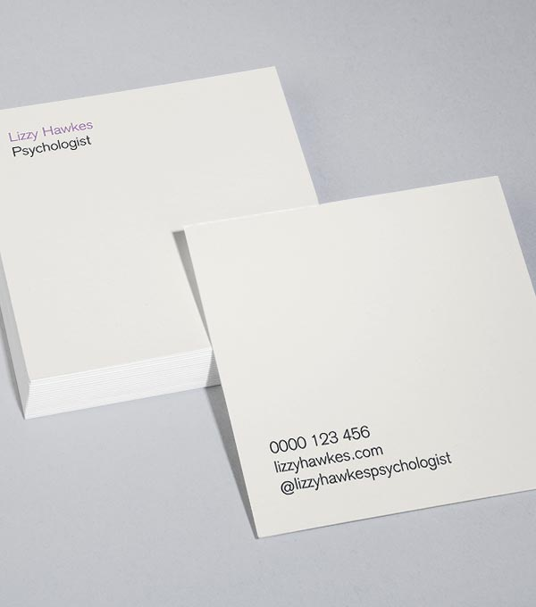 Square Business Card designs - Barely There