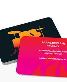 Preview image of Business Card design 'Drums on Fire'