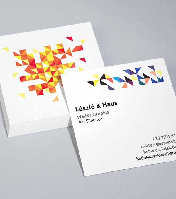 Browse square business card design templates moo united kingdom triangulate reheart Images