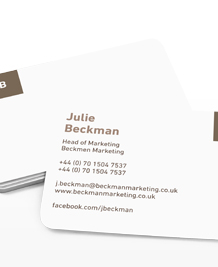 Preview image of Business Card design 'Just the initials'