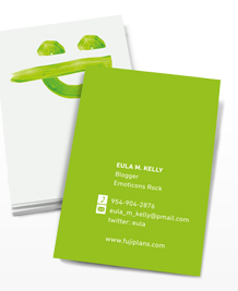 Preview image of Business Card design 'Emoticons – Green'