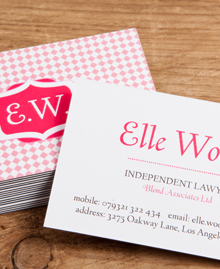 Preview image of Business Card design 'Elle Woods'