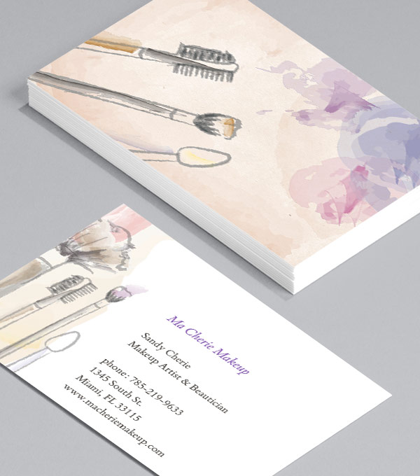 Business Card designs - Let's Kiss and Makeup