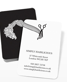 Preview image of Business Card design 'Hairstyles Black'