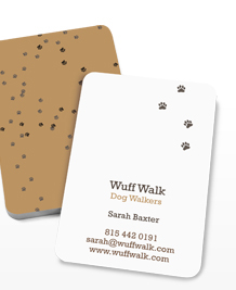 Preview image of Business Card design 'Mucky Pups'