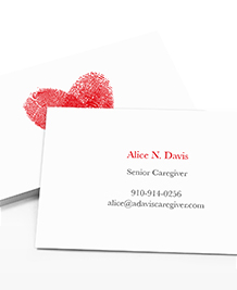 Business Card designs - Hands and Heart