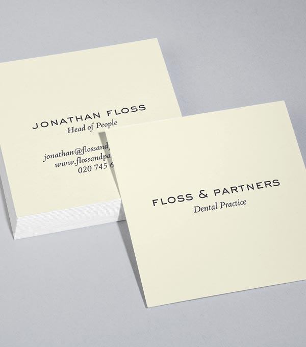 Square Business Card designs - Best Practice
