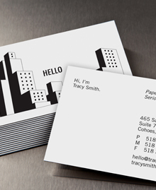 Preview image of Business Card design 'Tiny Papers, Big World'