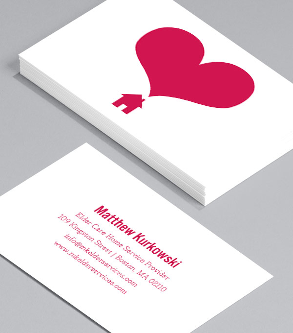Business Card designs - Hearts and Homes