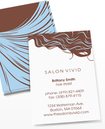 Preview image of Business Card design 'Cool Blue Tresses'