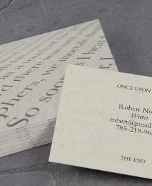 Business Card designs - Read me like a book