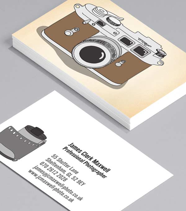 Business Card designs - Classic Cameras